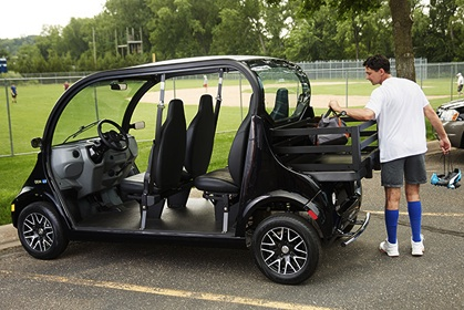 GEM electric vehicles are perfect for athletic events.