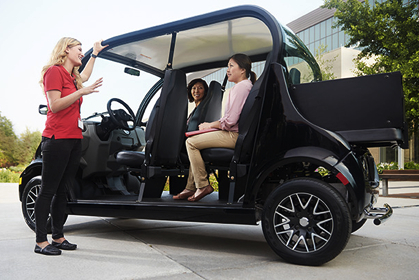 GEM electric cars and carts are ideal for use on college and university campuses.