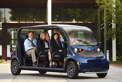 GEM electric carts and cars for corporate campuses.