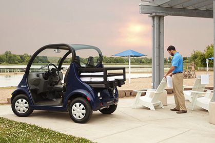 GEM Electric vehicles for hotels and resorts.