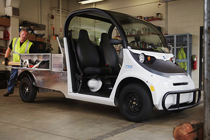 GEM electric cars and carts are ideal for use by property management firms.